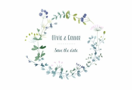 Save The Date Cards Watercolour meadow blue