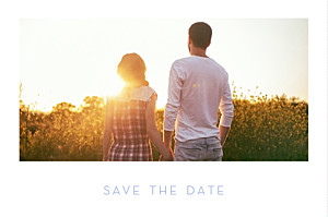 Save The Dates Simple 1 photo landscape white