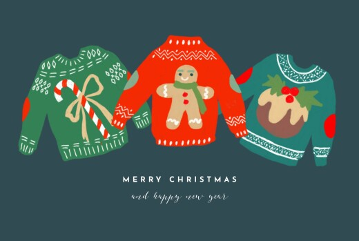Christmas Cards Christmas jumper blue