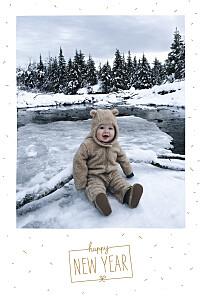 Winter confetti white christmas cards