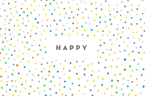 Notecards Happy white