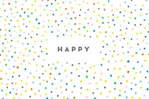 Happy white notecards