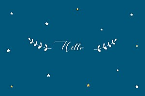 Little stars blue blue notecards