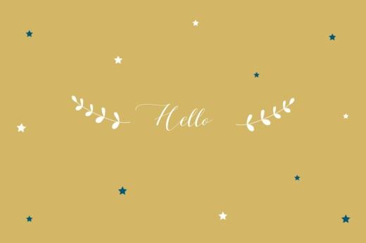Notecards Little stars yellow