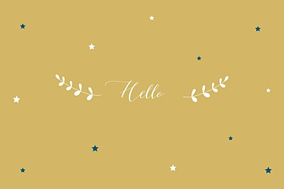 Notecards Little stars yellow finition
