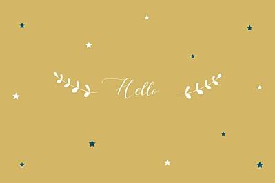 卡片,小星星,黄色