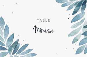 Summer night blue table numbers
