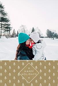 Christmas Cards Little white trees kraft
