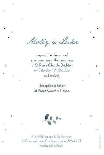 Wedding Invitations Summer night blue - Page 2