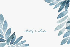 Summer night blue save the date cards
