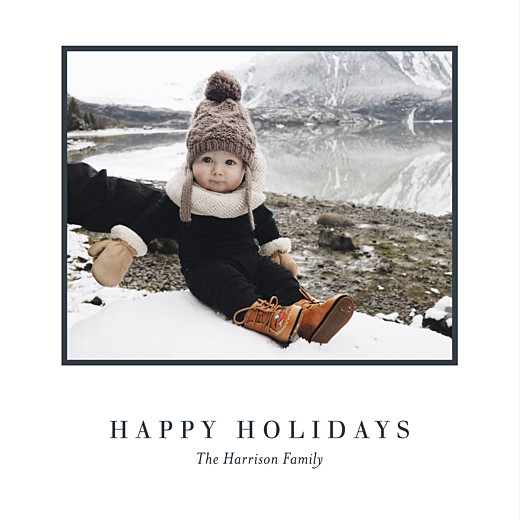 Christmas Cards Chic photo (foil) white