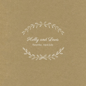 Wedding Invitations Poem kraft