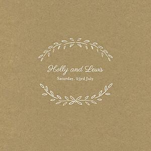 Poem kraft brown wedding invitations