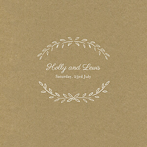 Poem kraft brown wedding invitations