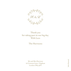 Poem photo kraft wedding thank you cards