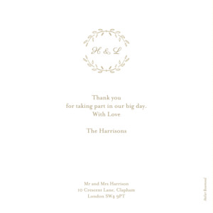 Wedding Thank You Cards Poem photo kraft