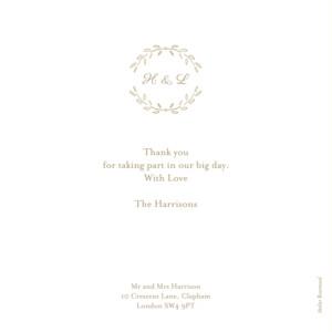 Wedding Thank You Cards Poem photo kraft