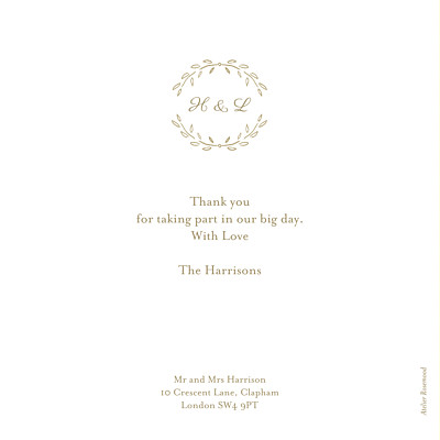 Wedding Thank You Cards Poem photo kraft finition