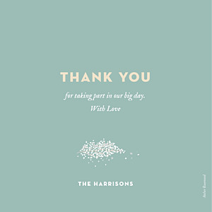 Wedding Thank You Cards Baby's breath green