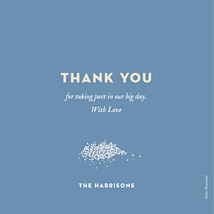 Wedding Thank You Cards Baby's breath blue