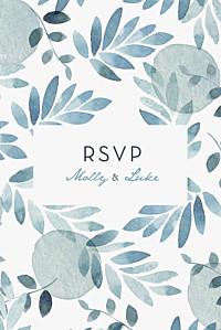 Summer night blue rsvp cards