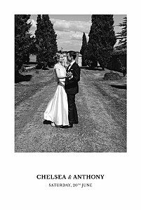 Reflections green photo wedding thank you cards