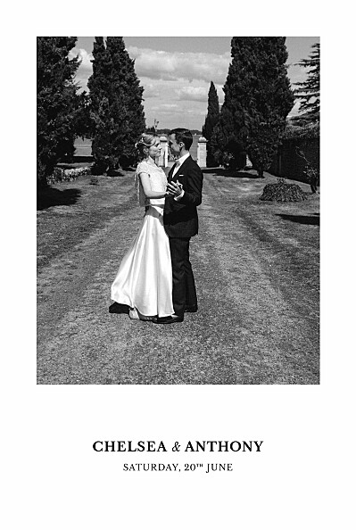 Wedding Thank You Cards Reflections green finition