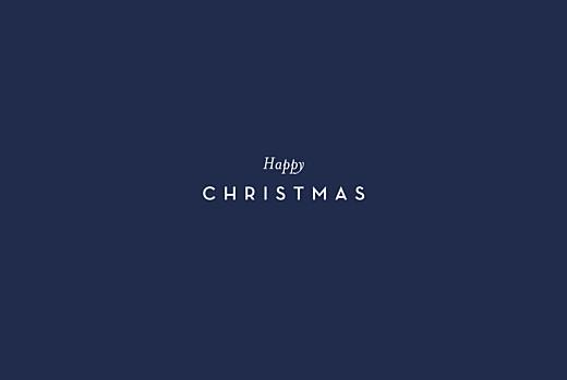 Christmas Cards Festive foliage (foil) blue