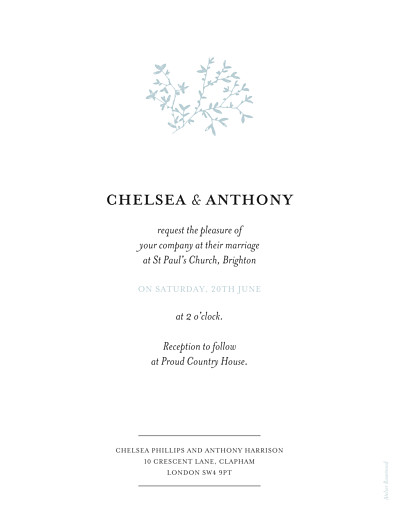 Wedding Invitations Reflections green