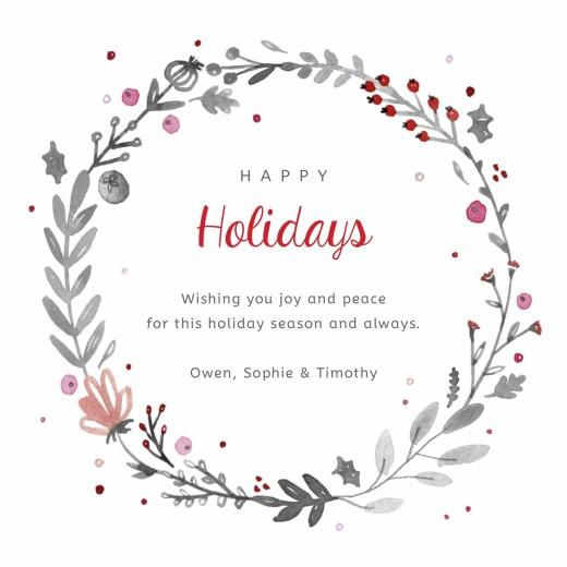 betway必威开户网站圣诞贺卡圣诞冠白色