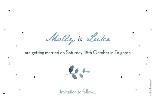 Save The Date Cards Summer night blue - Page 2
