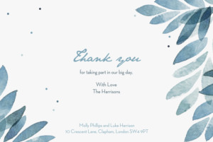 Wedding Thank You Cards Summer night blue