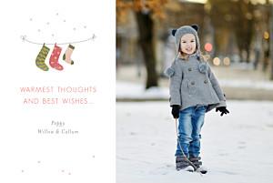 3 christmas stockings green christmas cards