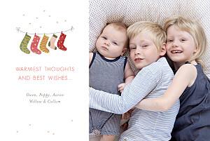 Christmas Cards 5 christmas stockings green