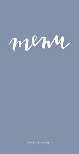 Wedding Menus Love letters blue
