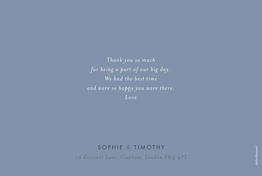 Wedding Thank You Cards Love letters blue