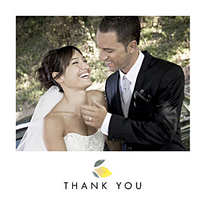 Wedding Thank You Cards Palermo white