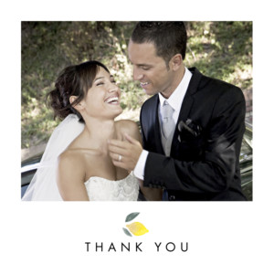 Wedding Thank You Cards Palermo white