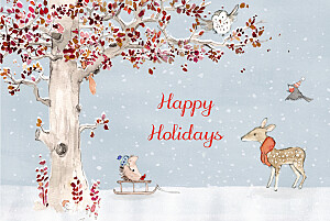 Winter storybook (4 pages) blue christmas cards