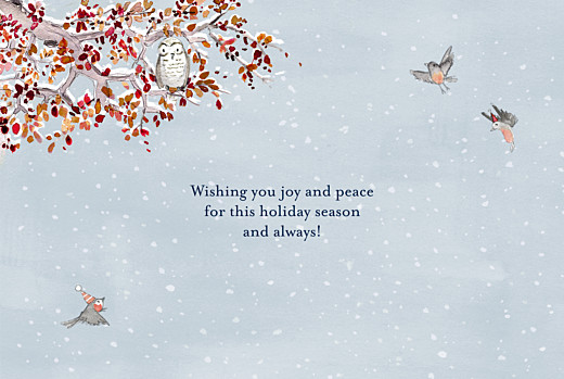 Christmas Cards Winter storybook (4 pages) blue - Page 3
