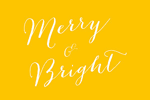 Christmas Cards Merry merry 5 photos yellow