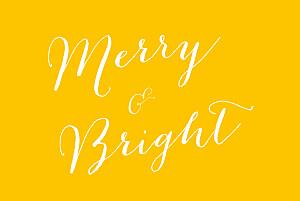 Merry merry 5 photos yellow tomoë  christmas cards
