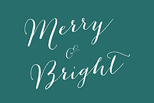 Christmas Cards Merry merry 5 photos green