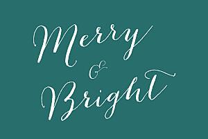Christmas Cards Merry merry 5 photos green