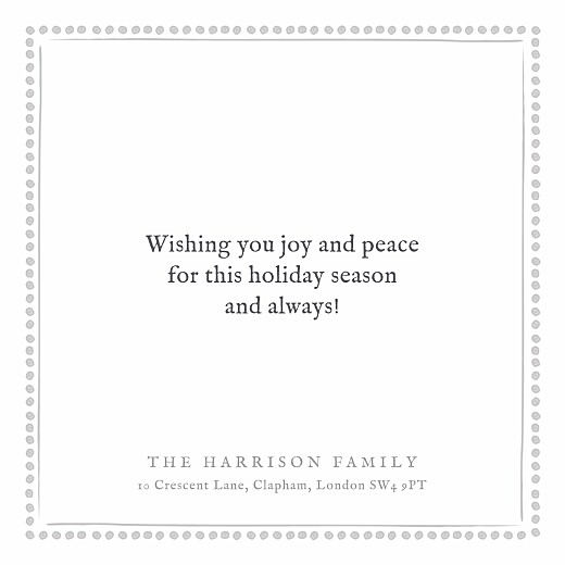 Christmas Cards Holiday border (foil) white