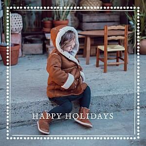 Christmas Cards Holiday border white