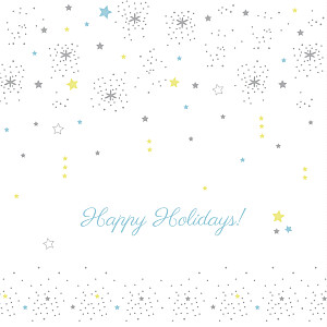 Christmas Cards Dainty stars white