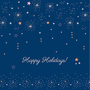 Christmas Cards Dainty stars blue