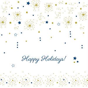 Christmas Cards Dainty stars gold