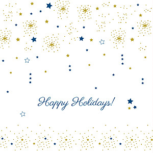 Dainty stars gold yellow christmas cards